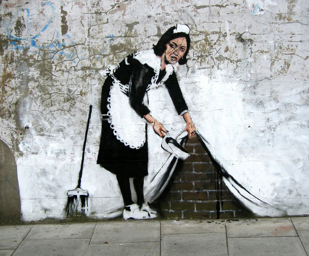 A London work by graffiti artist Bansky