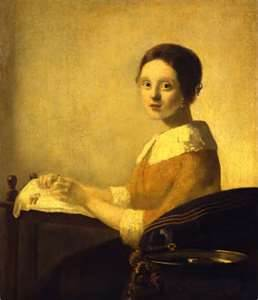 Can you tell if this painting is a fake Vermeer? Answer: Si amigo!