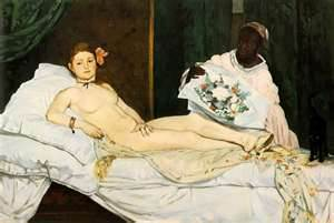 """Olympia"" by Edouard Manet (1863)"