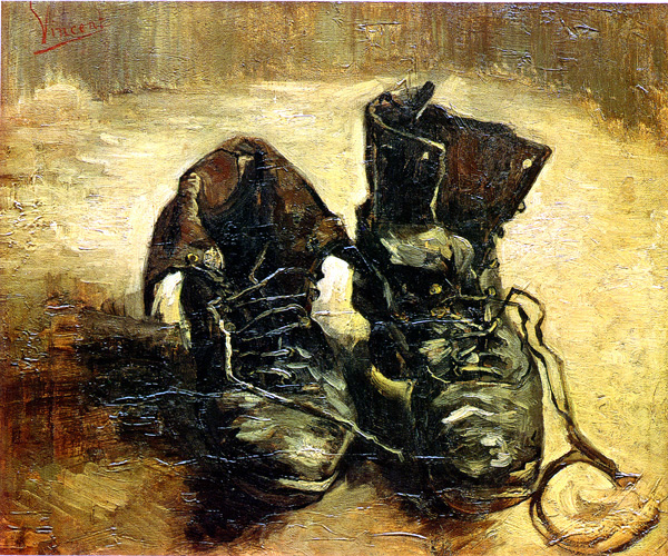 """A Pair of Shoes"" by Vincent Van Gogh (1886)"
