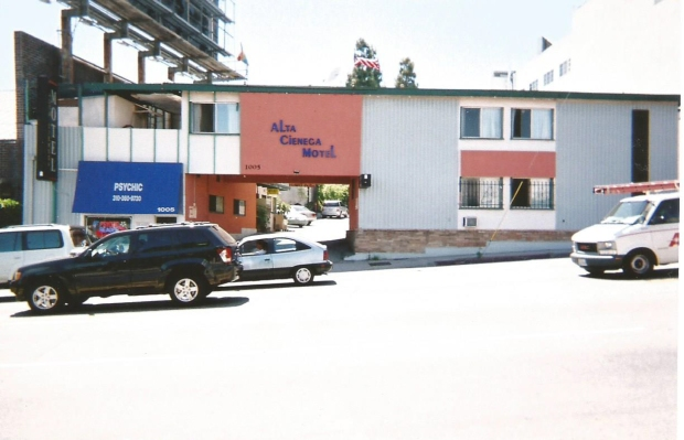 Alta Cienega Motel. The room over the archway was Jim Morrison's room.