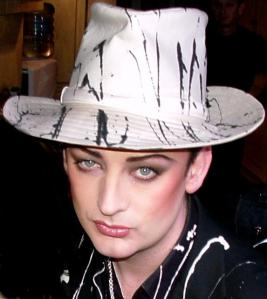 By George, is that Boy George or Demi Moore?