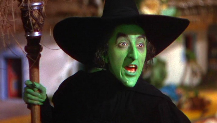 Elementary school teacher or Wicked Witch of the West?  Not a far stretch from this actress' previous day job.