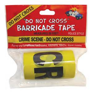 L.A. natives see crime so often, barricade tape is now readily available at local 99 cent stores, available for weddings, birthday parties, and funerals.