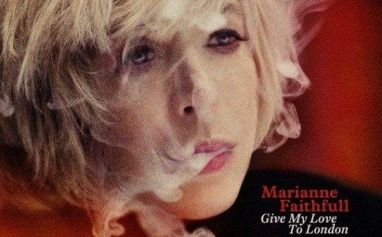 Marianne Faithfull, forever up in smoke. Save her butt!