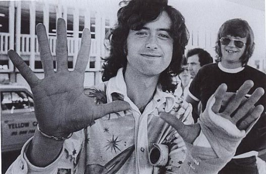 The hands that rocked the cradle and everything else. Jimmy page after clipping his nails?