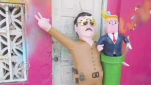 El Chapo and the Don bust a move. The best pinatas money and drugs can buy.